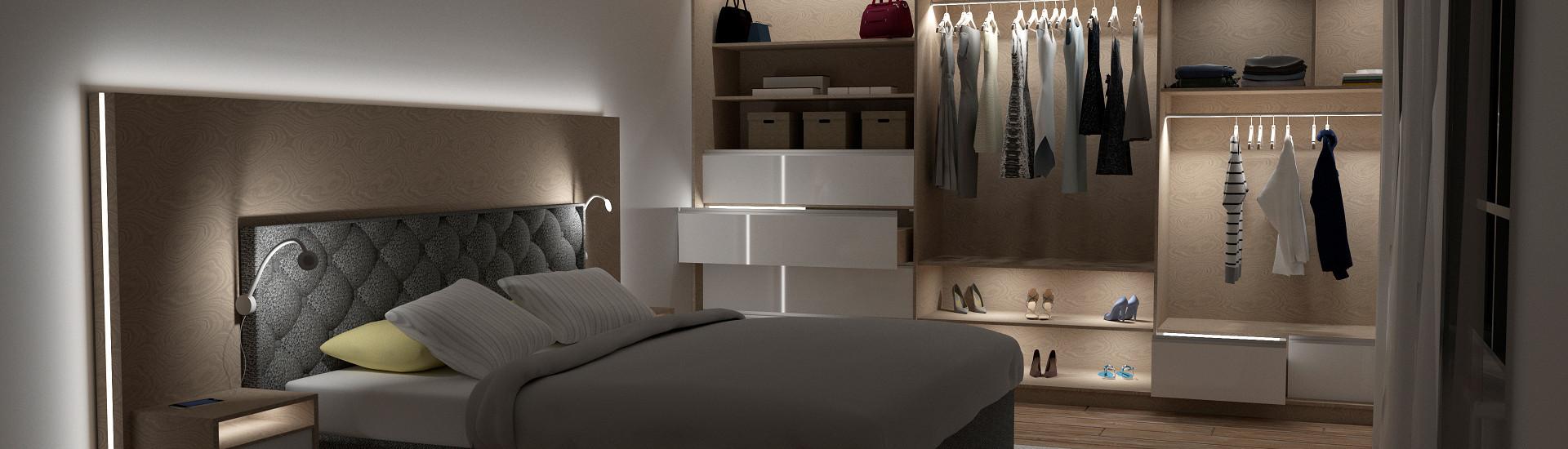 Oświetlenie w sypialni i garderobie FUTURA PIR, RELING LED, POLARUS P (2).jpg